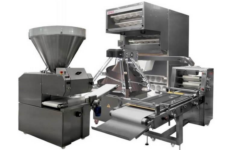 Техника для производственной зоны пекарни/кондитерской включает в себя 9 позиций